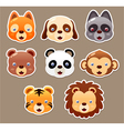 Animals face set vector image vector image