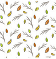 autumn falling leaves and branches pattern vector image vector image