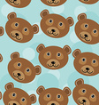 Bear Seamless pattern with funny cute animal face vector image vector image