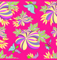 bright flowers seamless pattern for your design vector image