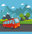 bus transport public icon vector image