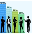 Business people infogrpahics vector image vector image