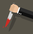 businessman holding a knife in hand vector image