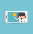 businessman suggestion money via smartphone vector image