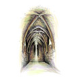 church indoor gothic architecture vector image