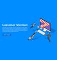 client retention concept banner isometric style vector image vector image