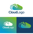 cloud logo and icon vector image vector image