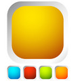 colorful rounded button background with empty vector image