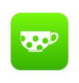 cup icon digital green vector image vector image