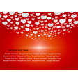 cute hearts on red background vector image vector image