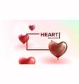 declaration of love beautiful postcard vector image vector image