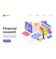 financial research landing page template vector image vector image