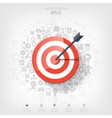 Flat target with web application icons Management vector image