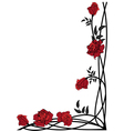 floral border with roses vector image vector image