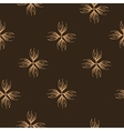 Floral brown seamless pattern vector image