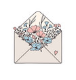 floral mail vector image
