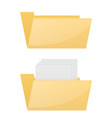 folder computer icon empty and full folder vector image