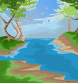 forest scenic vector image vector image