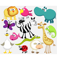 Funny cartoon animals vector image vector image