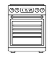 gas cooker icon outline style vector image