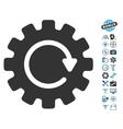 Gearwheel Rotation Icon With Air Drone Tools Bonus vector image vector image