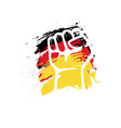 germany hand and flag template design vector image