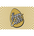 Gold Foil Calligraphy Happy Easter Greeting Card vector image vector image