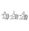 hand showing symbol like isolated on a white vector image vector image