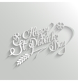 happy st patricks day lettering greeting card
