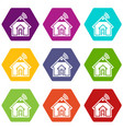 home icons set 9 vector image