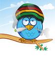 jamaican owl cartoon vector image