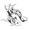 Koi fish tattoo sketch vector image vector image