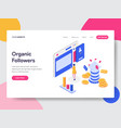 landing page template organic followers vector image
