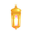 lantern with glowing light vector image