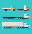 lorry or cargo truck and delivery automobiles vector image