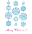 Merry Christmas Card Decorative Balls vector image
