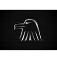 Metallic eagle symbol vector image vector image
