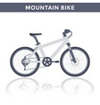 mountain bike on white vector image vector image
