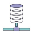 network server storage icon in color section vector image