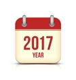 New Year 2017 Calendar Icon on White vector image vector image