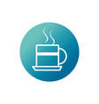 office hot coffee cup breakfast block gradient vector image