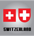 official government elements of switzerland vector image vector image