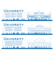 outline set university study banners vector image vector image