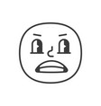 rascal smile fase black and white emoji eps 10 vector image vector image