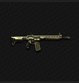 rifle vector image