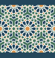 seamless arabic pattern vector image vector image