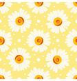 Seamless pattern with chamomiles and dots on vector image vector image