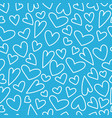 seamless pattern with heart for happy vector image vector image