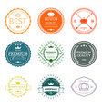 Set of premium quality labels and badges vector image vector image