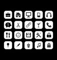 sets of home black icons image vector image vector image